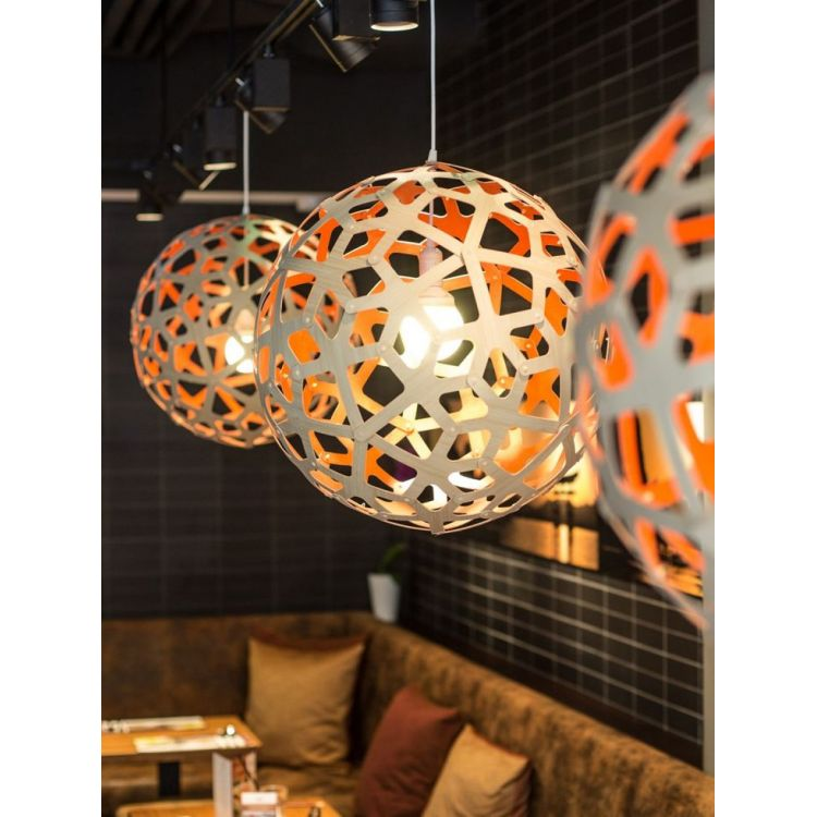 Coral Contemporary Wooden Light For Dining Room Living
